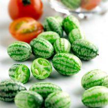 100 Pcs Rare Mini Watermelon Cucumbers Seeds Vegetables Fruit Thumb Water Melon Seeds Taste Cucumbers Pepquinos Bonsai Plants
