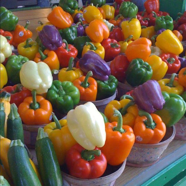 Organic Rainbow Bell Pepper Seeds, 100pcs/pack