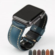 Watch Accessories Blue Fashion Genuine Leather Watch Strap Wristband For iwatch 38mm Apple Watch Band 42mm Watchbands